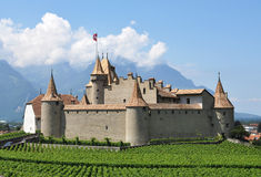 Chateau d'Aigle in canton Vaud, Switzerland Royalty Free Stock Images