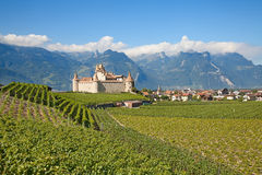 Chateau d'Aigle. Famous castle Chateau d'Aigle in canton Vaud, Switzerland royalty free stock photos