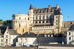 Chateau d`Amboise, France. This royal castle is located in Amboise in the Loire Valley, was built in the 15th century and is a tourist attraction stock image