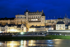 Chateau d'Amboise by night Stock Photography