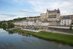 Chateau d'Amboise and village Royalty Free Stock Images