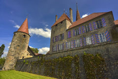 Chateau d'Avenches. Avenches castle, locally known as Chateau d'Avenches, is a Swiss castle in Vaud, Switzerland Royalty Free Stock Photo