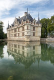 Chateau d'Azay-le-Rideau. Is one of the Royal Castles in the famous Loire Valey Stock Photo