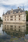Chateau d'Azay-le-Rideau. Is one of the Royal Castles in the famous Loire Valey Stock Images