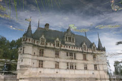 Chateau d'Azay-le-Rideau. Is one of the Royal Castles in the famous Loire Valey Royalty Free Stock Photos