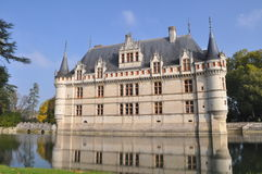 Chateau. D azay Le Rideau in Tours, France stock image