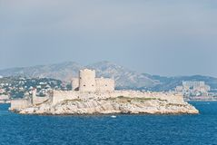 Chateau d'If, near Marseilles, France. Chateau d'If, famous prison mentioned in Dumas Monte Cristo novel, near Marseilles, France stock images