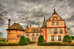 The Chateau d'Osthoffen, a medieval castle in Alsace. France Royalty Free Stock Photo