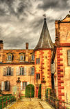 The Chateau d'Osthoffen, a medieval castle in Alsace Stock Photos