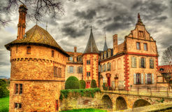 The Chateau d'Osthoffen, a medieval castle in Alsace Stock Photo