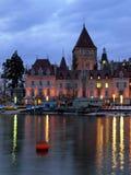 Chateau d'Ouchy, Lausanne, die Schweiz Stockbilder