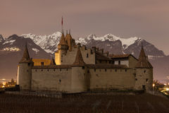 Chateau de Aigle, Vaud, Suiza Imágenes de archivo libres de regalías