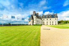 Chateau de Amboise medieval castle, Leonardo Da Vinci tomb. Loire Valley, France Royalty Free Stock Image