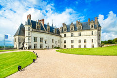 Chateau de Amboise medieval castle, Leonardo Da Vinci tomb. Loire Valley, France Royalty Free Stock Photo