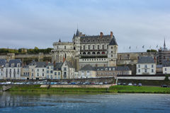 Chateau de Amboise over Loire river, France Stock Photography