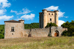 Chateau de Arques tower and walls Royalty Free Stock Images