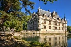 The chateau de Azay-le-Rideau, France. Royalty Free Stock Image