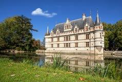 The chateau de Azay-le-Rideau, France. Royalty Free Stock Photos