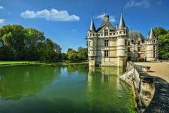 The chateau de Azay-le-Rideau, France. Stock Photo