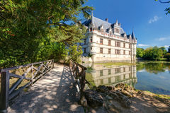 The chateau de Azay-le-Rideau, France Royalty Free Stock Photo