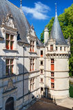 The chateau de Azay-le-Rideau, France Stock Images