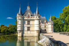 The chateau de Azay-le-Rideau, France Stock Photos