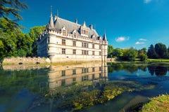 The chateau de Azay-le-Rideau, France Stock Image