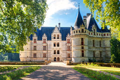 The chateau de Azay-le-Rideau, France Royalty Free Stock Photos