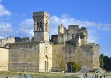 Chateau de Beaucaire 库存照片