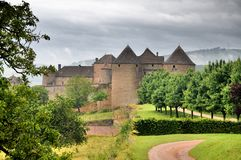 Chateau de Berzé stock images