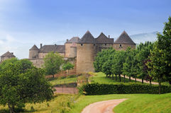 Chateau de Berzé. Is located in the Burgundy region of France in the department of Saone-et-Loire.It was built between 13th and 15th centuries stock photography