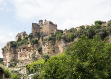 Chateau de Beynac en la Dordoña Foto de archivo
