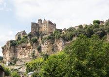 Chateau de Beynac i Dordognen Arkivfoto