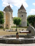 Chateau de Blandy-les-Tours ( France ) Stock Image