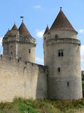 Chateau de Blandy-les-Tours ( France ) Stock Images