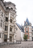 Chateau de Blois. Berühmte Wendeltreppe Stockfotos