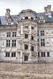Chateau de Blois. Famous spiral staircase Royalty Free Stock Photos