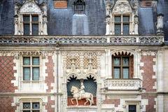 Chateau DE Blois Kasteel op de de Loire-Rivier frankrijk stock afbeelding