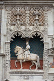Chateau de Blois. Statue of King Louis XII on the entrance to Chateau de Blois. Loire Valley, France stock photography