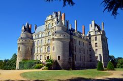 The Chateau de Brissac is  one of the most beautiful castles of Chateau de la Loire. The Chateau de Brissac is the highest castle in Loire castles. It is one of stock photo