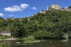 Chateau de Castelnaud -多尔多涅省-法国 免版税图库摄影