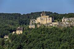 Chateau de Castelnaud - Dordogne - France. Chateau de Castelnaud in the Dordogne area of the Nouvelle-Aquitaine region of France stock photo
