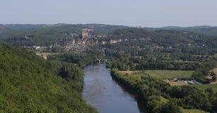 Chateau de Castelnaud la chapelle, Dordogne, France Stock Photography