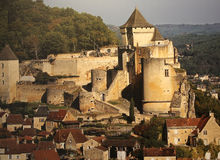 Chateau de Castelnaud la chapelle, Dordogne, France Royalty Free Stock Photos