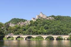 Chateau de Castlenaud en la Dordoña Francia Imágenes de archivo libres de regalías