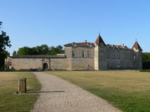 Chateau de Cazeneuve, Prechac ( France ) Stock Photos