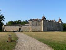 Chateau de Cazeneuve, Prechac ( France ) Stock Photos