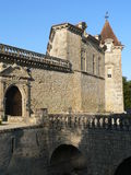 Chateau de Cazeneuve, Prechac ( France ) Stock Images