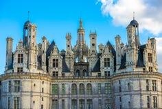 Chateau de Chambord,最大的城堡在卢瓦尔河流域, Fra 免版税库存照片