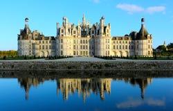 Chateau de Chambord är den största chateauen i Loiret Valley, Frankrike arkivfoto